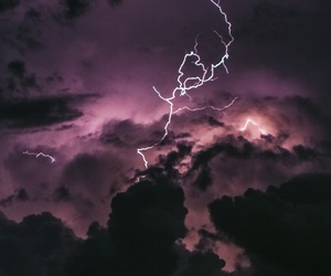 sky, purple, and storm image