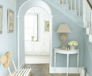 home, blue, and design image