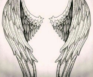 angel, drawing, and sketch image
