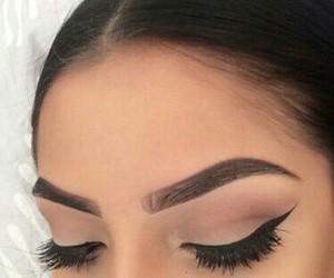 eyeliner, girl, and makeup image