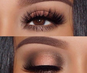 makeup, make up, and brown eyes image