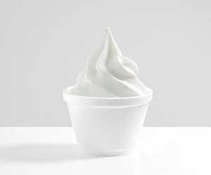 white, ice cream, and food image