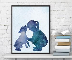 dog, kids room, and poster image