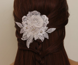 etsy, hair accessories, and weddings image
