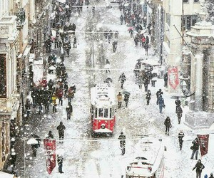 istanbul, snow, and city image