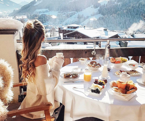 luxury, snow, and hair image