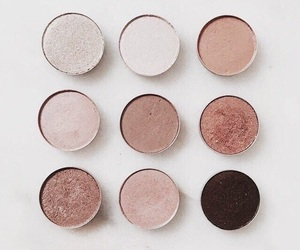 makeup, neutral, and eyeshadows image