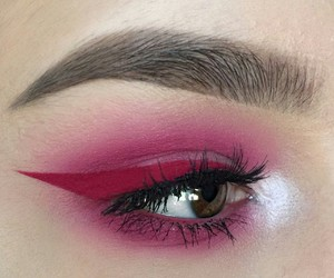 cool, red, and eye shadow image