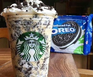 oreo, starbucks, and food image