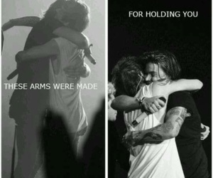 hug, larry stylinson, and louis styles image