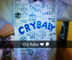 blue, white, and crybaby image