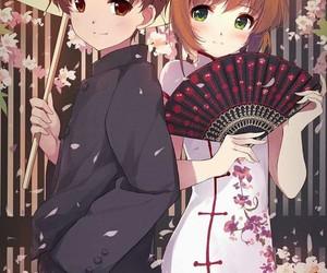 sakura, syaoran, and card captor image