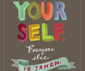 quotes, yourself, and be yourself image