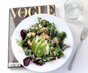 food, vogue, and salad image