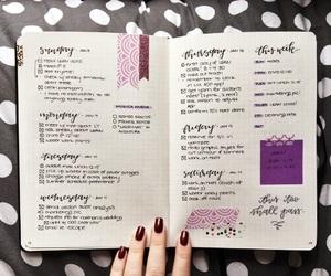 study, girl, and nail image