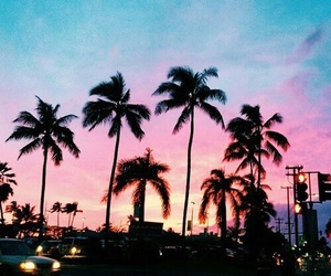sky, summer, and pink image