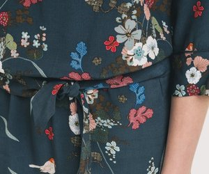 blossom, dress, and floral image