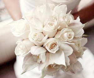 wedding, flowers, and rose image