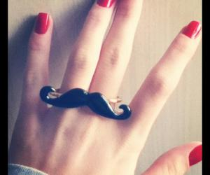 hand, mustache, and nails image