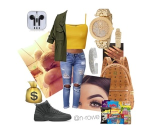 green, Polyvore, and yellow image