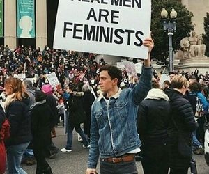 feminism, protests, and feminists image