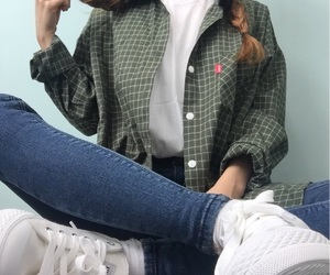 outfit, braid, and clothes image
