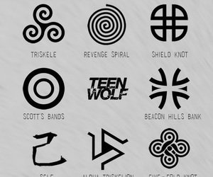teen wolf, symbol, and teenwolf image