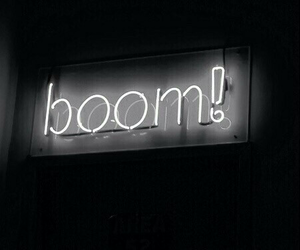 black, boom, and light image