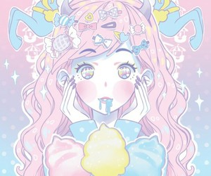 kawaii, pastel, and anime image