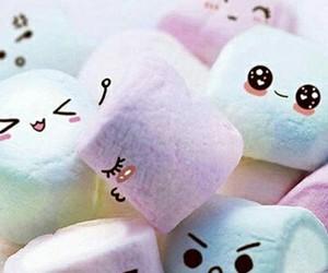 marshmallows, blu e, and puple image