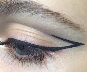 fashion, eyeliner, and makeup image