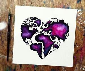 art, heart, and world image