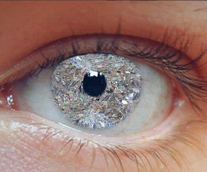 eye, diamond, and yes image