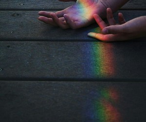 rainbow, hands, and tumblr image