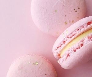 food, macarons, and pink image