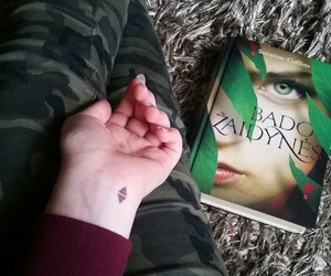 book, green, and tattoo image