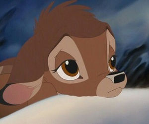disney, bambi, and sad image