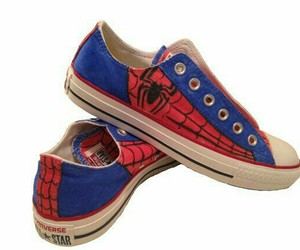 spiderman+shoes+converse image