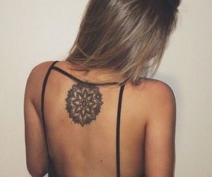 flower and back tattoos image