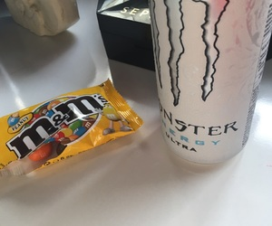 m&ms, monster, and studying image