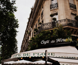 cafe, building, and paris image