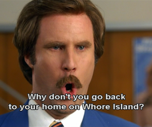 funny, anchorman, and quotes image