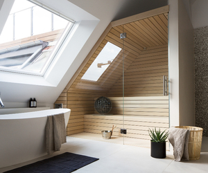 home, bathroom, and sauna image