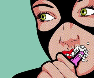 pop art, art, and catwoman image