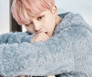 pink hair, wings, and park jimin image
