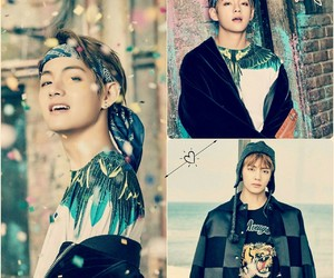 v, bangtan boys, and tae image