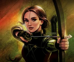 hunger games, katniss everdeen, and illustration image