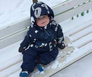 baby, walk, and winter image