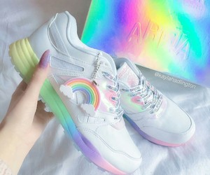 rainbow, shoes, and colors image