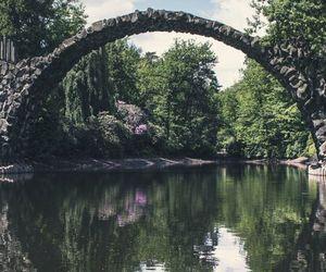 nature, water, and bridge image